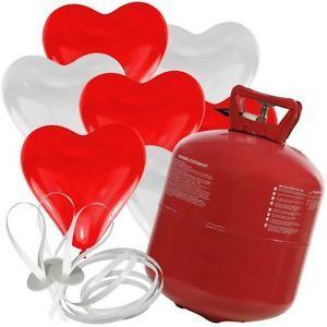 50 Herz Luftballons Helium Verschlüsse Ballon Gas Hochzeit Rot Weiss