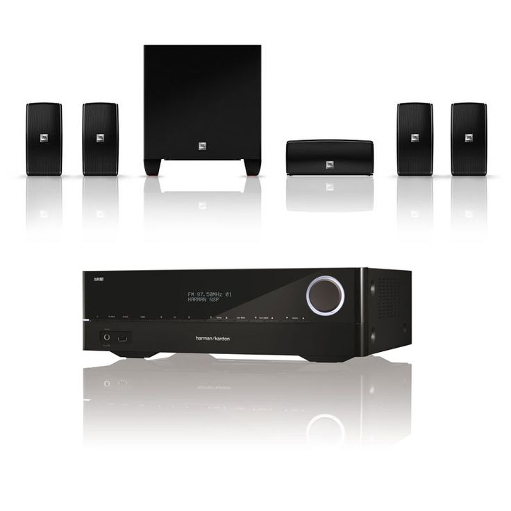 Ensemble home cinéma Harman Kardon AVR 171 + JBL Cinema 610 Amplificateur Home Cinema 3D Ready 7.2 - 7 x 100 W DLNA Bluetooth HDMI + Pack d'enceintes 5.1