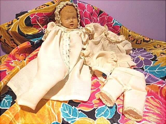 Vintage baby doll with clothing.  Found in DOLLS/VINTAGE.  http://barbspencerdolls.com