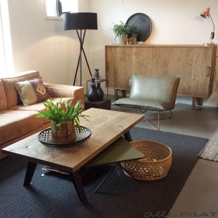 Wollen Karpet Torino van 100% zuiver scheerwol. Grof geweven effen vloerkleed in kleur antraciet - Alle Pilat