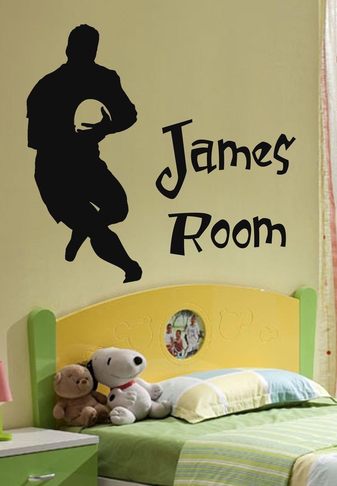 Best Personalised Rugby Wall Art Giant Sticker Children 400 x 300