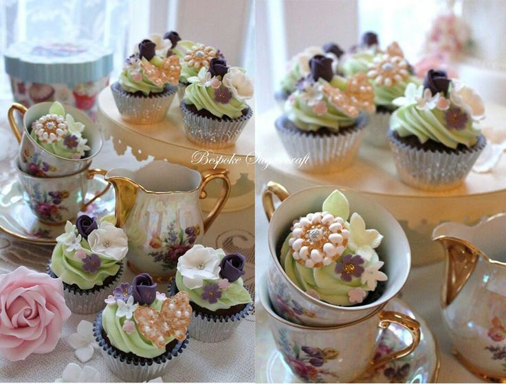 Vintage style cupcakes.