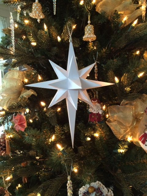 Star of Bethlehem Christmas Tree Ornament - how to make