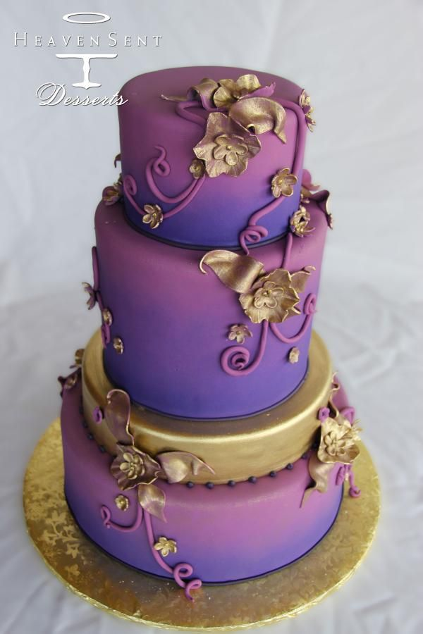 purple and gold wedding cake 1000 ideas about purple gold weddings on menu 18852