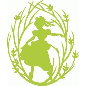 Silhouette Design Store - View Design #72557: dancing girl tree branch frame