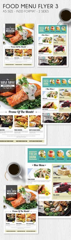 Food Menu Flyer 3 on Behance