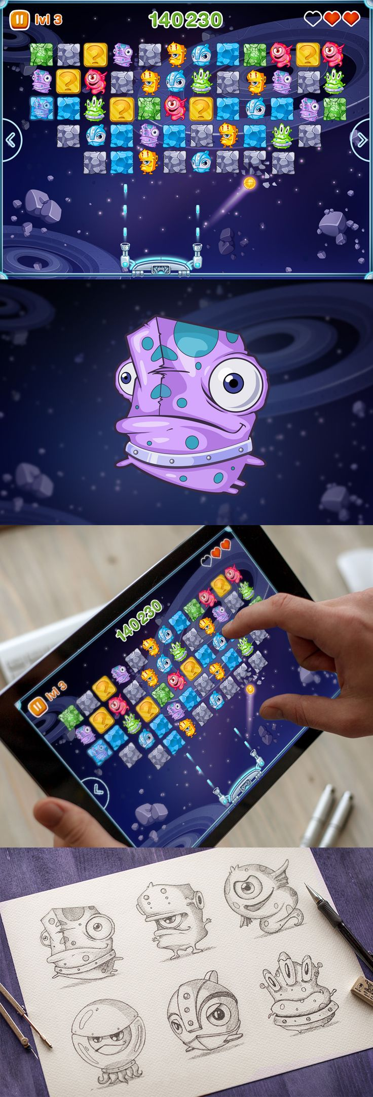 New fantastic arkanoid game. Meet aliens on your IOS devices :)