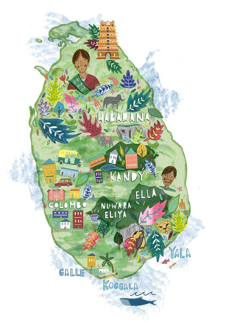 Map of Sri Lanka - Steph Marshall
