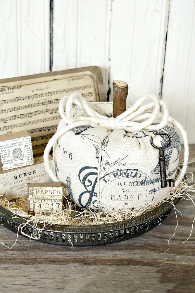 ❥ Fabric Pumpkin-French Inspired