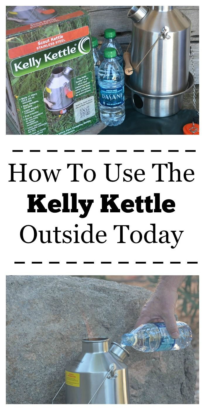 The Kelly Kettle can cook with twigs, pine cones or paper scraps. It's perfect to cook outside for emergencies or for camping.
