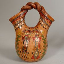 Featuring Brightly Colored Male And Female Yei Figures Find This Pin More On Native American Indian Wedding Vases
