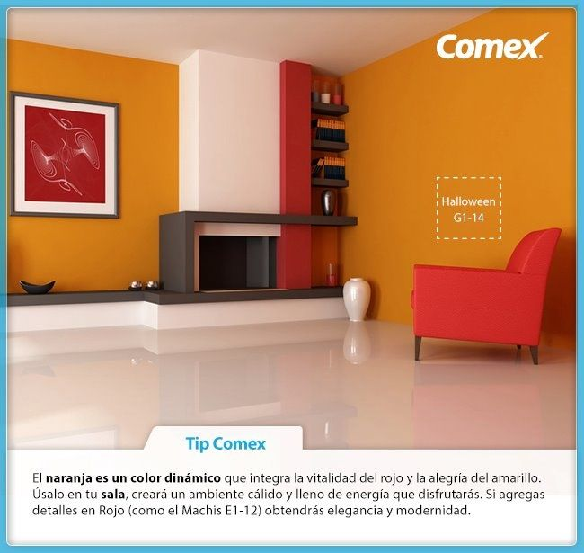 M s de 25 ideas incre bles sobre paredes naranja en for Ver colores de pintura para casas