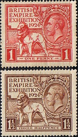 Great Britain 1924 King George V British Empire Exhibition Set Fine Mint SG 430/1 Scott 185/6 Other British Stamps HERE