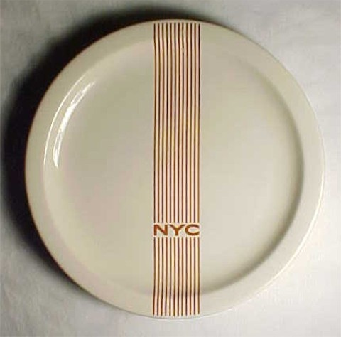Anonymous; Glazed Stoneware 'Mercury Series' Plate for New York Central Railroad by Syracuse China Corporation, 1940s.