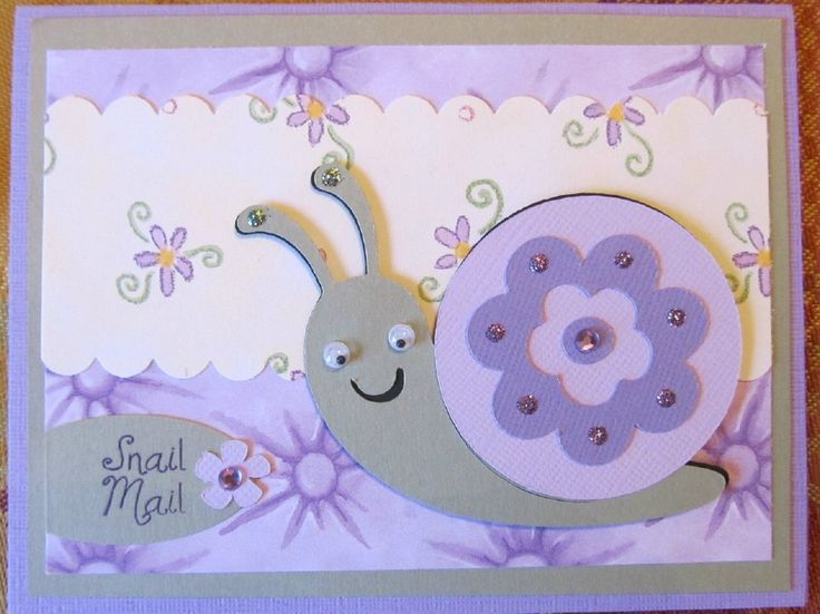 These elephant and snail Cricut Cards are a great way to send snail mail. They use the Create A Critter Cricut Cartridge and a rubberstamp sentiment.