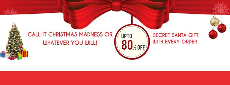 Get upto 80% off + Secret santa gift with every order