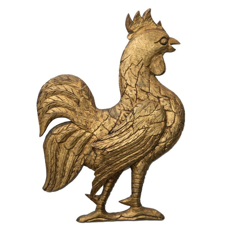 Vintage Gold Rooster for sale online at Renae Cohen Antiques on 1stdibs.com.