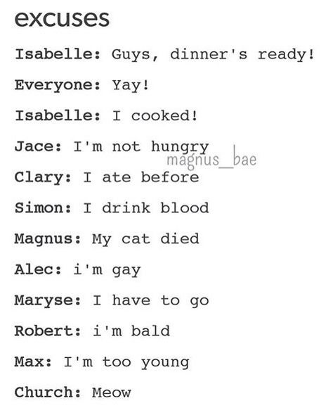 Alec's, though.<<sorry I can't eat that I'm gay<<<Even Chairman chimed in..<< Shouldn't Max's be I'm dead?