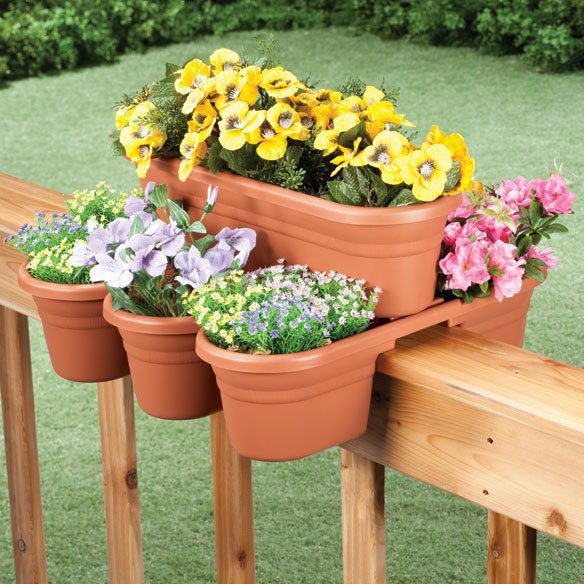 32 Best Deck Rail Planters Images On Pinterest: 1000+ Images About Ferns, Flowers, Container Gardens, Etc