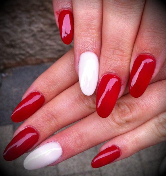 Piros rgy kis fehérrel
