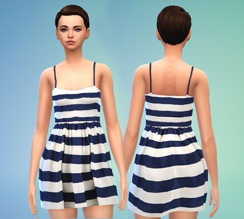 Sims 4 black dress navy