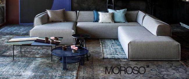 Moroso, is een Italiaanse specialist in designmeubels met een hedendaagse stijl sinds 1952. De sofa's, fauteuils en accessoires zijn van hoge kwaliteit en stralen individuele creativiteit uit van ruim 30 bekende ontwerpers.