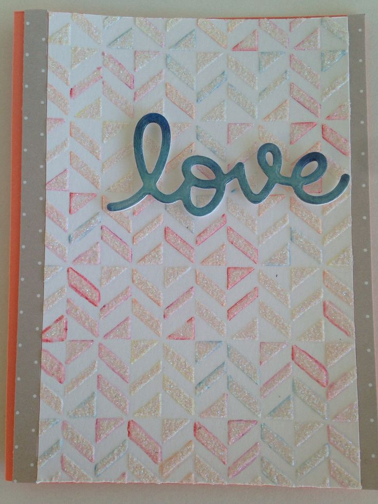 A personal favorite from my Etsy shop https://www.etsy.com/listing/250736264/love-card-5-12x4-14-or-14-cm-x-11-cm