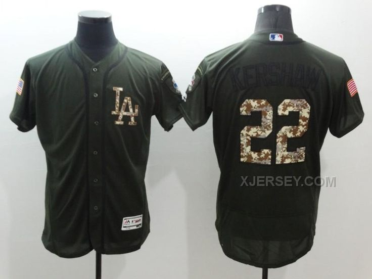 b251c5094 J. Dodgers Clayton Kershaw Green Flexbase Authentic Collection Salute to  Service Stitched MLB Jersey ... Dodgers 16 Andre Ethier ...