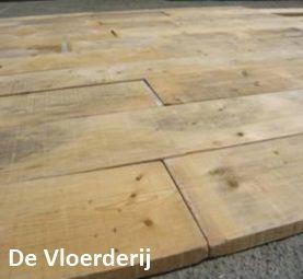 oude eiken houten vloer behandeld met Woca olie