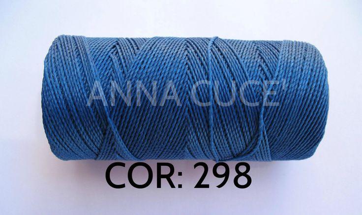 COR: 298 Scegli da 10 - 20 metri filo cerato LINHASITA  1 mm di spessore, filo…