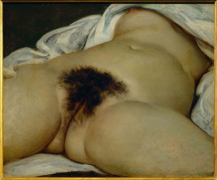 """L'Origine du monde (""""The Origin of the World""""), by Gustave Courbet Year 1866, Oil on canvas, 46 cm × 55 cm (18 in × 22 in), Musée d'Orsay, Paris"""
