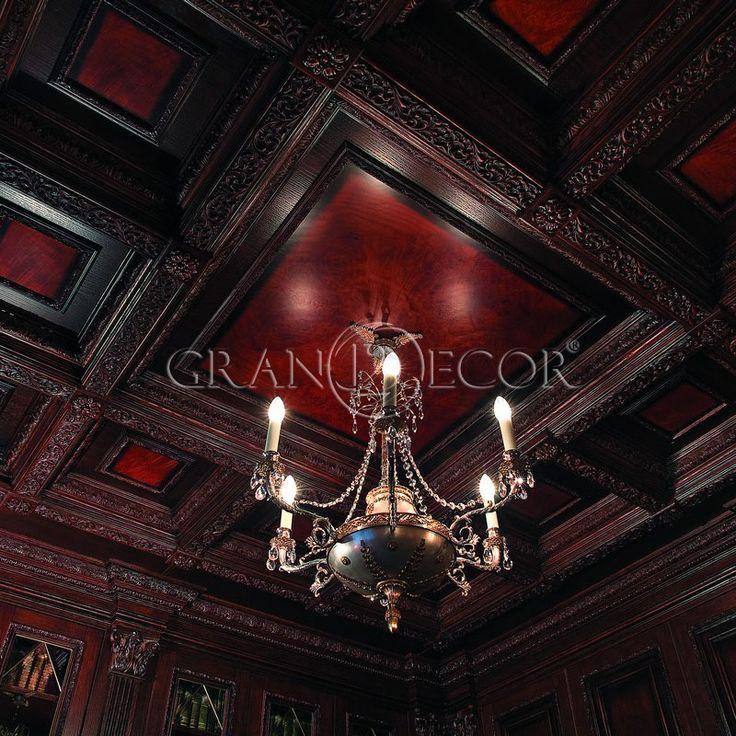 Деревянный потолок Сальваторе | grandecor.ru