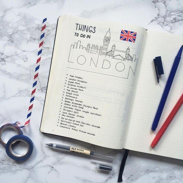 Hier sind einige kreative Ideen für das Travel Bullet Journal, mit denen Sie Ihr Leben organisieren können