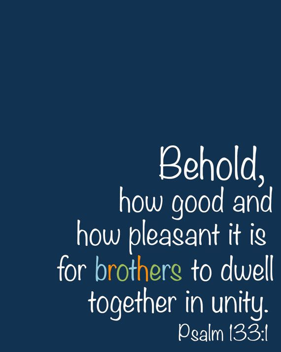 Brothers In Unity Psalm 133 Printable Art by PrintablesByAshley, $5.00