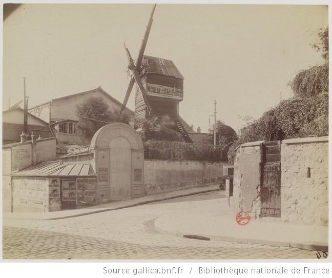 Moulin de la Galette, Rue Lepic : Montmartre - Août 1899