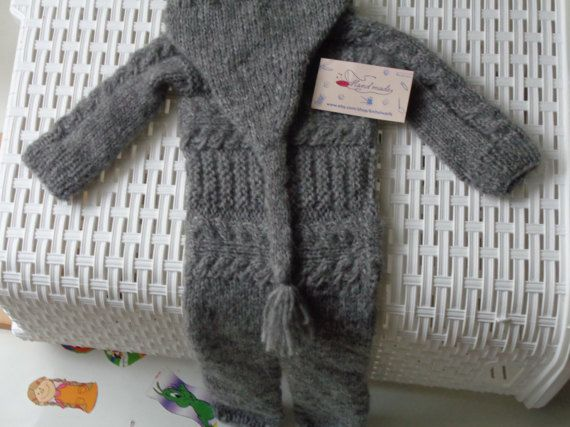 Size 6/12 Months.Newborn Overalls.Baby Boy Pants by knitsdwarfs