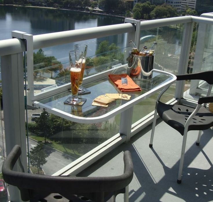 Balcony Bar Table - This exactly what we're looking for for our deck!