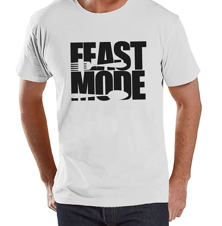 Custom Party Shop Men's Feast Mode Thanksgiving T-Shirt