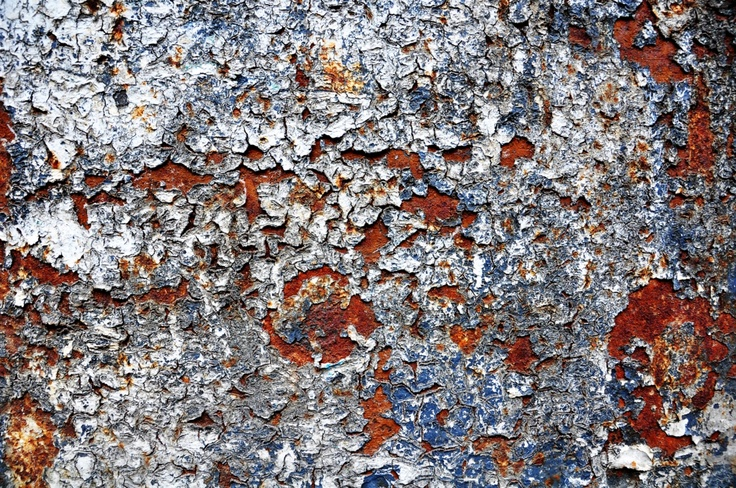 Rough rusted metal surface