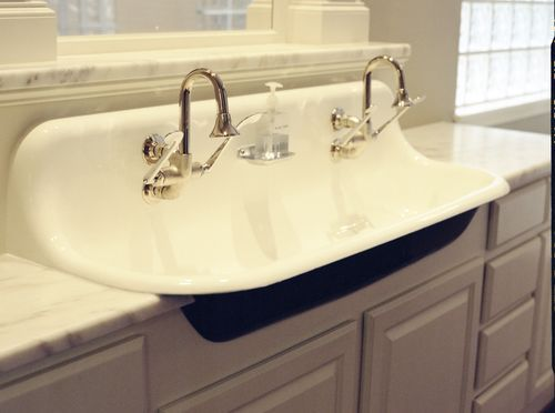 ... and Decoration Pinterest Industrial, Double sinks and Vintage sink