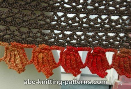 ABC Knitting Patterns - Fall Leaf Stole
