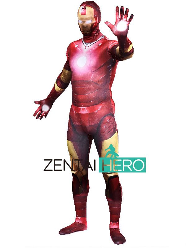 ==> [Free Shipping] Buy Best Free Shipping DHL NEW 3D Printing Shade Iron Man Costume Bodysuit 2016 Male Superhero Halloween Zentai Suit Fancy Dress 16101201 Online with LOWEST Price | 32749512948