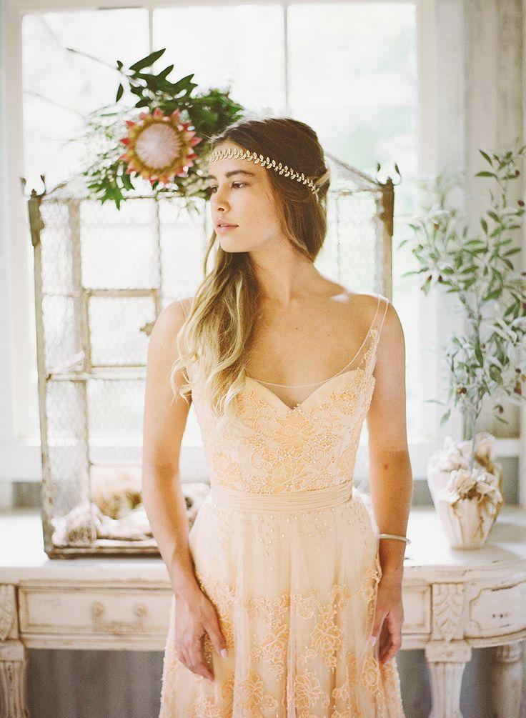 Autumn Wedding Dresses Ideas - Wedding dress colour | itakeyou.co.uk: