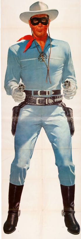 Clayton Moore as The Lone Ranger (1949-57, ABC) Also, he was my substitute teacher in junior high!