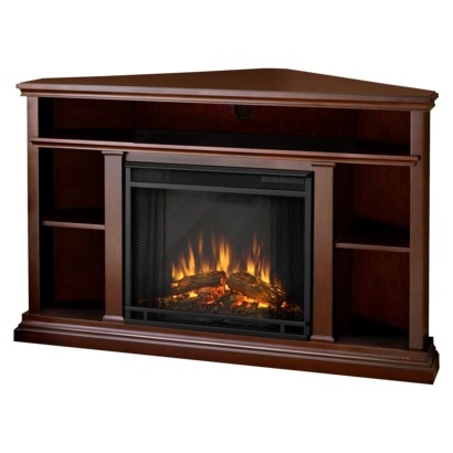 Churchill Corner Electric Fireplace - Dark Espresso
