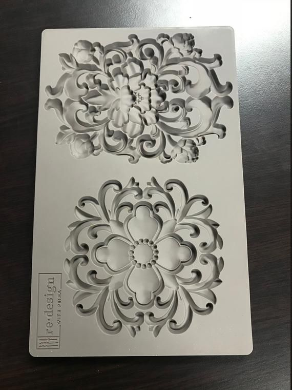 decor mould Iron Orchid Design Food Safe Silicone Mould by Prima Grandeur use with Clay Hot Glue