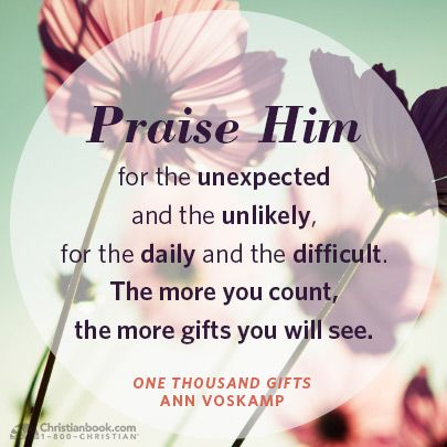 One Thousand Gifts by Ann Voskamp #1000gifts