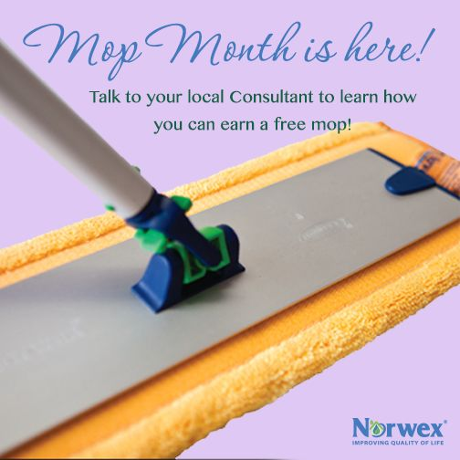 A Norwex Party is the perfect opportunity to bring friends together and show how to save time and money, clean greener, reduce chemicals, connect and have fun! This month, Host's can earn the Norwex Mop! Ask your Norwex Consultant for more information! This is a fantastic special! Don't miss your chance to earn your free Mop! Book your party today!