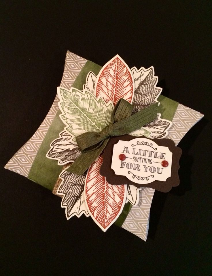 Stampin' Up!, Pillow Box designed by Kris Dickinson
