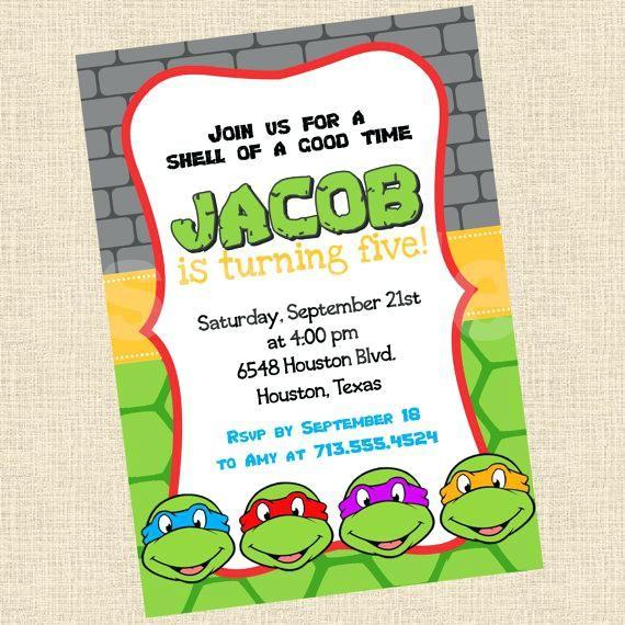 Free Printable Ninja Turtle Birthday Invitations Fresh Free Printable Ninja T Ninja Turtle Invitations Ninja Turtles Birthday Party Turtle Birthday Invitations